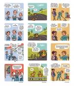 <h5>Strips BD pour le Conseil Général de de l'Eure</h5><p>Scénarios et dessins : PrincessH</p>