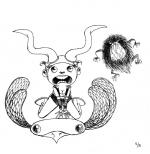 <h5>Inktober 2014 - 11/31</h5><p>Birth of Flying Horns & the Flat Bird Inktober : 1 dessin à l'encre chaque jour d'octobre - album 2014</p>