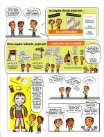 """<h5>Bayard Presse & Ministère des Finances</h5><p>""""Pourquoi on paye des impôts"""" (supplément de 16 pages BDs et rédactionnel, dans Okapi, Phosphore et Géo ados) 2009 Illustrations + 5 planches de BD scénarisées par PrincessH</p>"""
