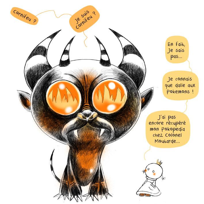Cornifeu, Pokémon, #Inktoberpremium