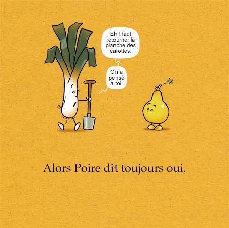 """Extrait de """"Poire trop poire"""", auteur, auteure, autrice : PrincessH, éditions Lapin."""