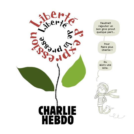 Hommage à Charlie Hebdo, première version, pour La Croix, 7 janvier 2020