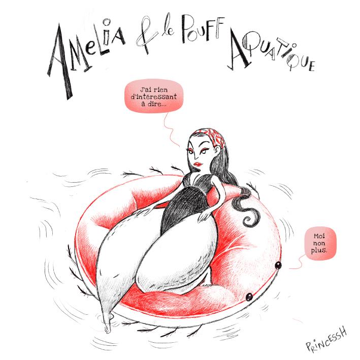 Duos Idiots : Amelia et l'AquaPouff, par PrincessH Illustration
