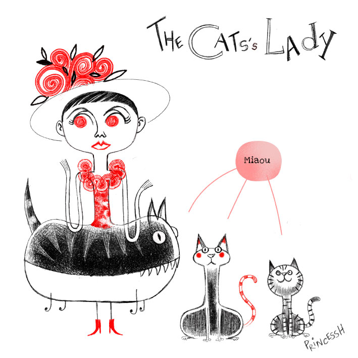 Les duos idiots : The Cats's Lady, illustration par PrincessH