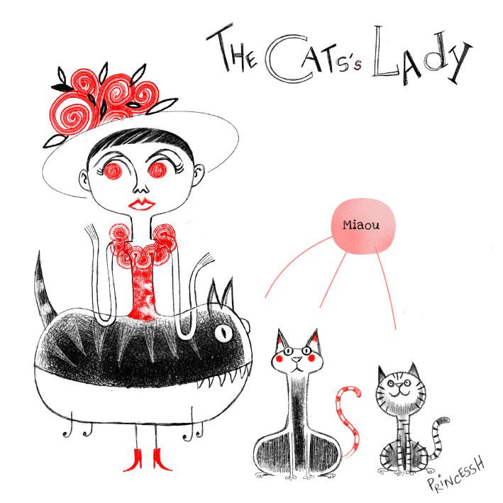 Les duos idiots : The Cats's Lady, illustration par PrincessH