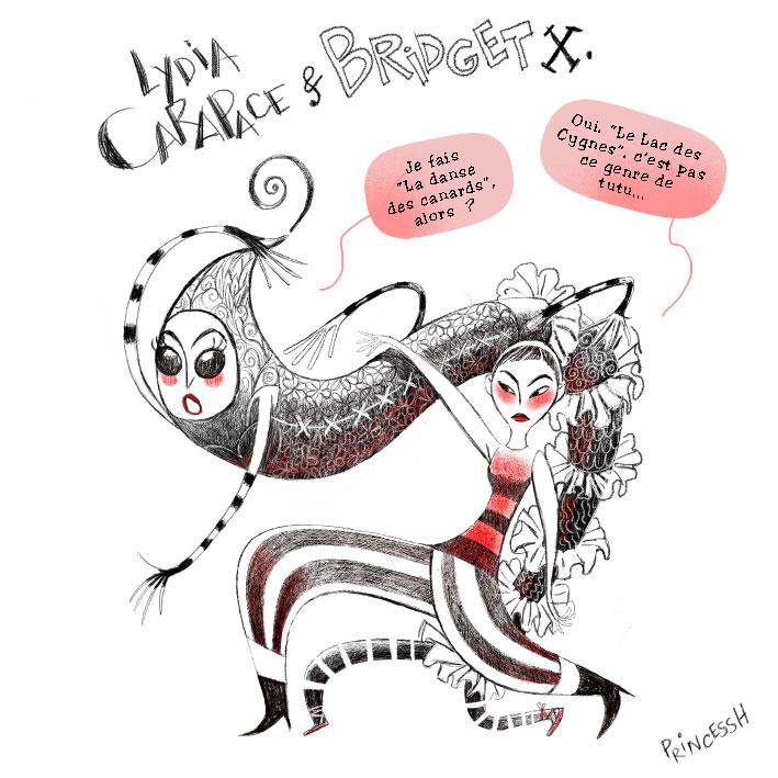 Les duos idiots par PrincessH . Lydia Carapace & Bridget X. Danse des canards vs Lac des Cygnes.