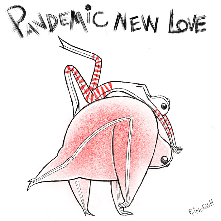 Pandemic New Love, illustration par PrincessH