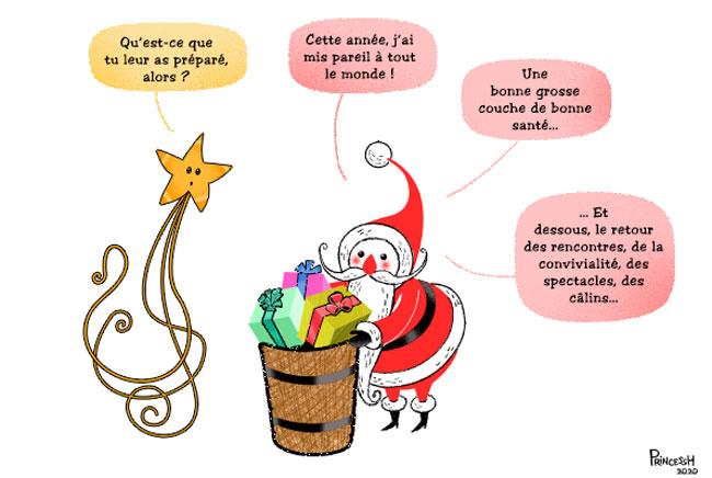 Noël 2020, illustration de PrincessH, pour La Croix du 24 décembre 2020