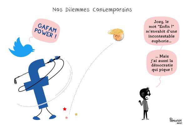 GAFAM pour La Croix du 14 janvier 2021, by PrincessH