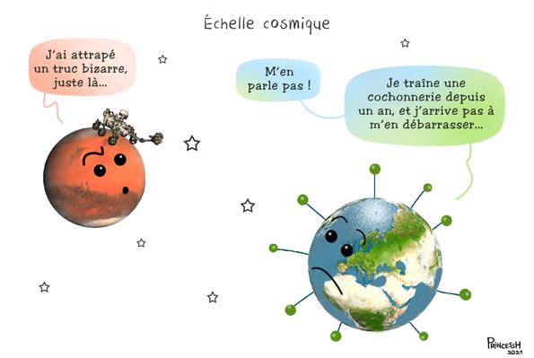 """""""échelle cosmique"""", PrincessH, pour La Croix du 4 mars 2021"""