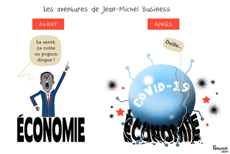 """""""Les aventures de Jean-Michel Business"""", PrincessH pour La Croix du 25 mars 2021"""