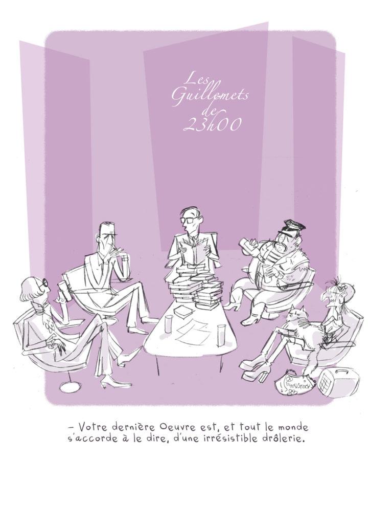 Recherches graphiques pour une page d'Apocalypse et Petits Biscuits, ouvrage écrit et dessiné par PrincessH et Pétronille et inversement, et publié aux éditions Lapin.