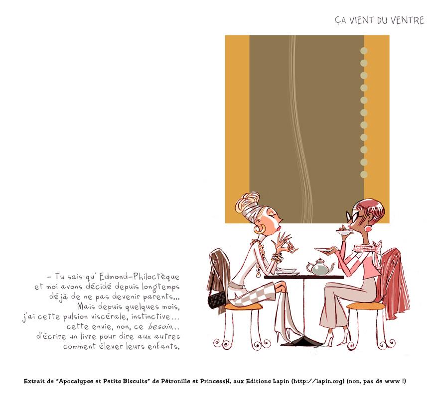"""Extrait de """"Apocalypse et Petits Biscuits"""" par Pétronille & PrincessH, Editions Lapin."""