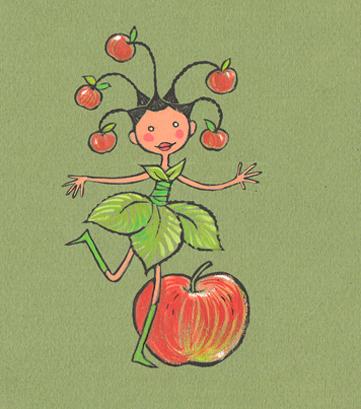 Une demoiselle-pomme pour Barbara
