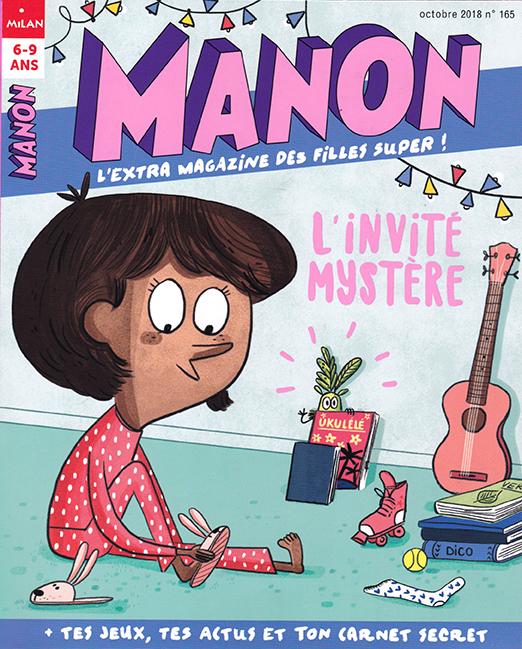 Couverture Manon n°165, octobre 2018