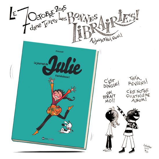 "Inktober2015, 7/31 & ""Le Journal de Julie"", Tome 4, sortie le 7 octobre 2015."