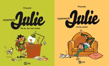 """Couvertures du """"Journal de Julie"""" tomes 1 & 2, Auteur : PrincessH"""