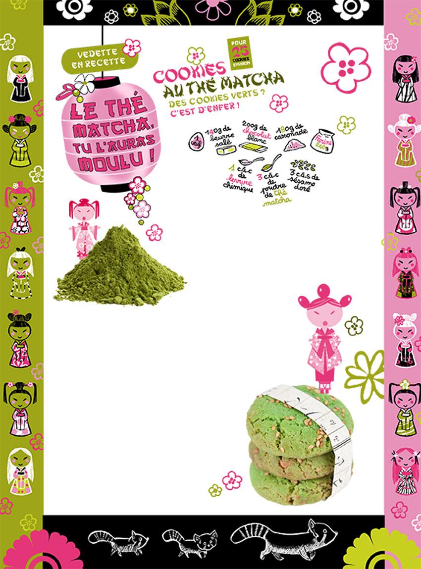 Extraits d'un cahier graphique réalisé pour le n°225 du magazine Julie, Milan Editions