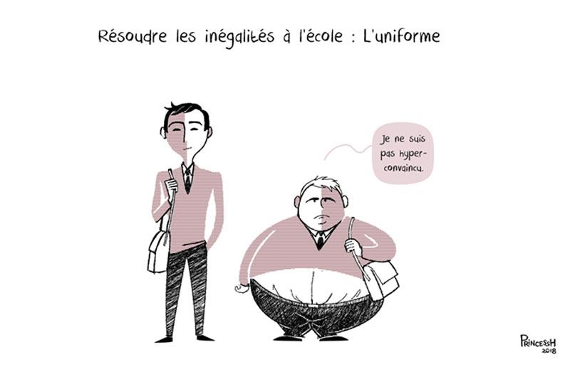 Inégalités à l'école, uniforme et obésité