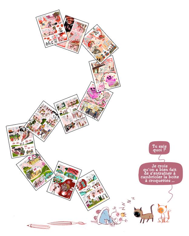 Le Journal de Julie, Tome 4, coll. BD Kids, Milan Editions, 11 planches inédites, scénarii et dessins par PrincessH