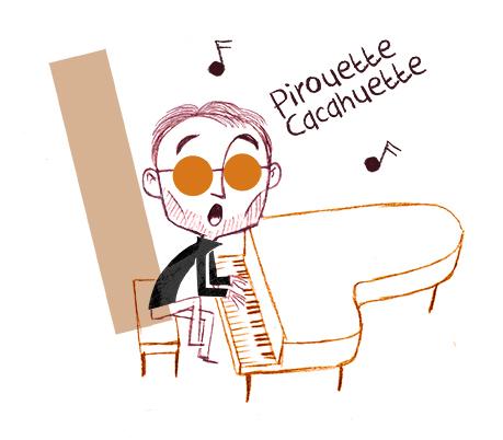 Piano et chant, recherche graphique