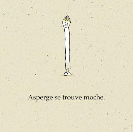 """Extrait de """"Une grande Asperge"""", écrit et illustré par PrincessH, éditions Lapin, mais 2019."""