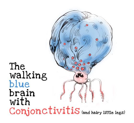 Le monstre-cerveau bleu