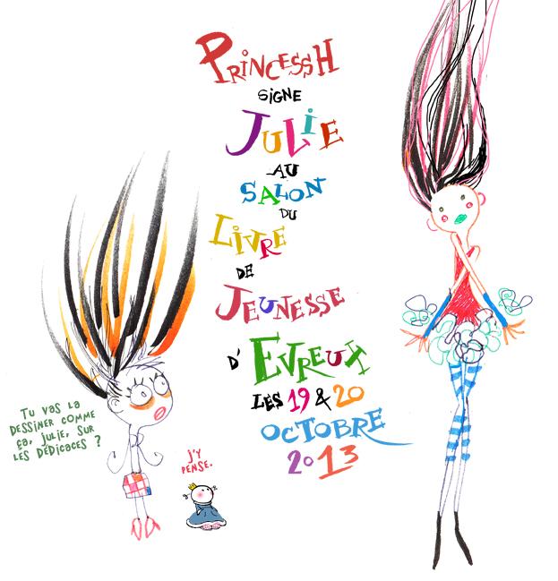 PrincessH au Salon du Livre de Jeunesse Evreux 2013