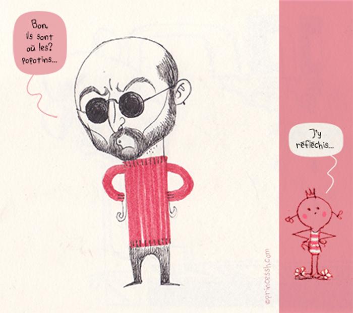 Le type en pull rouge