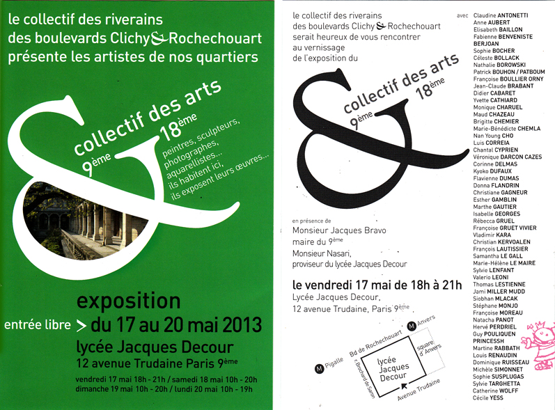 invitation Expo Jacques Decour