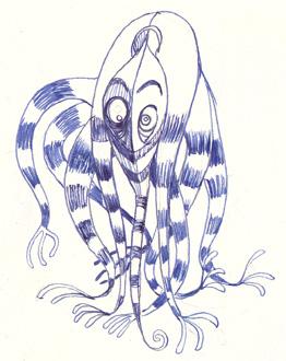 pieuvre étrange