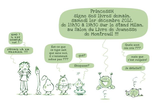 PrincessH signe ses livres au Salon du Livre de Jeunesse de Montreuil