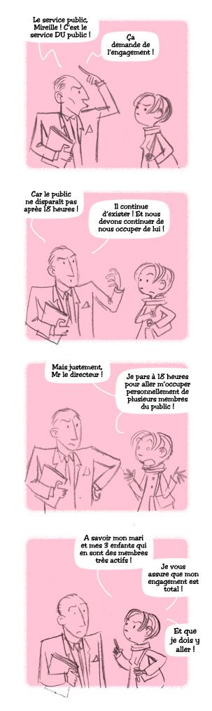 Vie de bureau - strip BD- service public